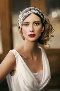 Glamorous Wedding Day Makeup and 1920's Inspired Hair