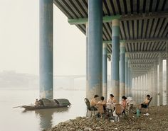 "Nadav Kander, Chongqing IV (Sunday Picnic), Chongqing Municipality, 2006 ( (Another Magazine, ""Constructing Worlds: Architecture & Photography"" / ""Constructing Worlds"" exhibit at Barbican and Michael Hoppen Gallery)"