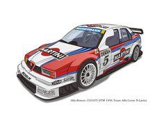 Alfa Romeo 155V6TI DTM(Vector Illustration)