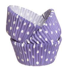 Cupcake Cups - Polka Dot - Purple (24)