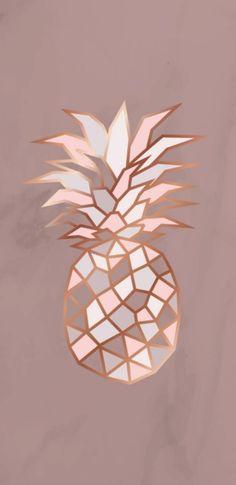 Cute Wallpaper Backgrounds, Pretty Wallpapers, Screen Wallpaper, Cool Wallpaper, Iphone Wallpaper, Rose Gold Wallpaper, Tumblr Wallpaper, Pineapple Wallpaper Tumblr, Cute Patterns Wallpaper