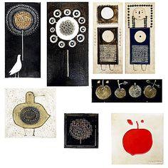 SYLVIA LEUCHOVIUS; RORSTRAND; Eight plaques : Lot 1076