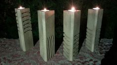The Fifth Element Stones Pillar Candle Holders - this would bring joy, great joy.
