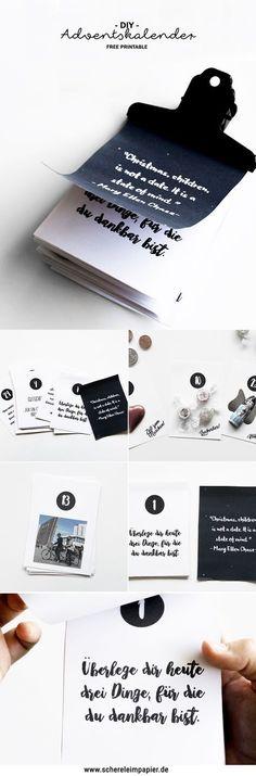 Adventskalender basteln: Mit meinem kostenlosen Printable könnt ihr schnell & einfach einen persönlichen DIY Adventskalender selber machen - mit tollen Sprüchen, Gutscheinen und Platz für Süßes. Ein Adventskalender der etwas anderen Art, eine schöne Geschenkidee auch zum Verschicken per Post. Schaut auf meinem Blog vorbei und ladet euch das Freebie zum Ausdrucken gratis herunter!