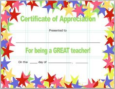 Certificate of appreciation 06 template pinterest 30 free certificate of appreciation templates and letters yadclub Choice Image
