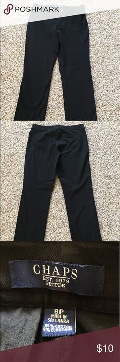 Chaps black slacks Chaps black pants. Size 8P. Great condition. Chaps Pants Straight Leg