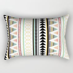 "Our Rectangular Pillow is the ultimate decorative accent to any room. Made from 100% spun polyester poplin fabric, these ""lumbar"" pillows feature a double-sided print and are finished with a concealed zipper for an ideal contemporary look. Includes faux down insert. Available in small, medium and large."