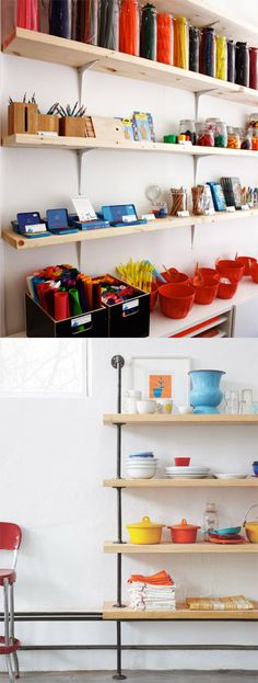 Note to self: Re: bottom shelving unit--crap someone beat me to it yet again...I just thought of this idea day before yesterday!