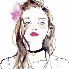 Risultati immagini per 土屋みよ Watercolour Hair, Watercolor Girl, Beauty Illustration, Watercolor Illustration, Art Drawings Beautiful, Fashion Design Drawings, Illustrations And Posters, Portrait Art, Female Art