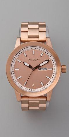 Rose gold Nixon