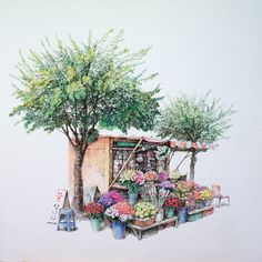 펜화 일러스트 Colored Pencil Illustration~ Amazing!