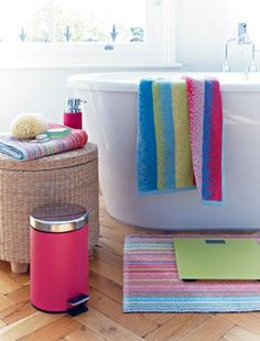 Fun With Colour A Modern Bathroom Doesn T Have To Look Grown Up Keep Things Fresh And By Accessorising Bright Colours Accessories John Lewis