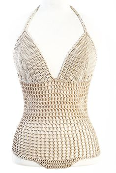This crochet bodysuit string you can use it as erotic lingerie or summer top   with jeans or shorts.    It s my own design/ pattern and is hand crocheted by me