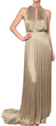 MARIA LUCAN HOHAN Soft Silk Tulle Gown