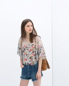 ZARA - NEW THIS WEEK - FLORAL PRINT TOP