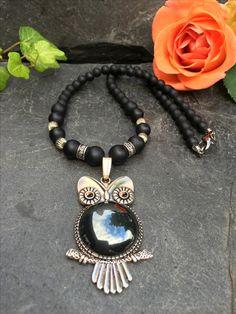 owl necklace, Made by Arja Hannele Owl Necklace, Jewelry, Jewlery, Jewerly, Schmuck, Jewels, Jewelery, Fine Jewelry, Jewel