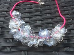 Necklace out of PET Bottles