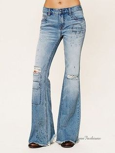 Free People Distressed Dream Catcher Flare Jeans size 24! NWOT!