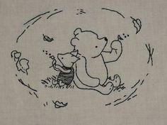 Vintage Pooh & piglet