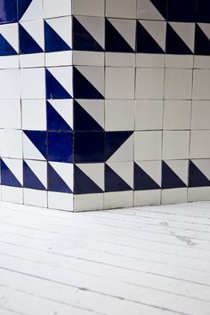 GEOMETRIC TRIANGLE PATTERN TILES Navy Restaurant in NYC, Photograph by Nicole Franzen | Remodelista