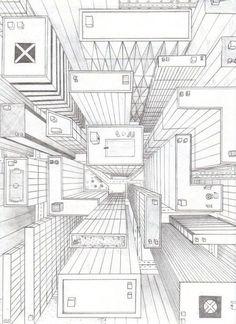 die besten 25 fluchtpunktperspektive ideen auf pinterest perspektive kunst 1 punkt. Black Bedroom Furniture Sets. Home Design Ideas