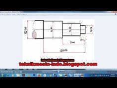 Contoh Program G-Code CNC Turning (Bubut) Proses Poros Bertingkat - YouTube