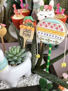 Wooden Sweet Label + Cookie from a Llama Fiesta Birthday Party on Kara's Party Ideas | KarasPartyIdeas.com (26)