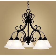 Buckingham 5-Light Matte Black Chandelier