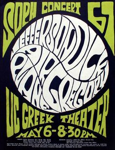 Jefferson Airplane concert poster, 1967.
