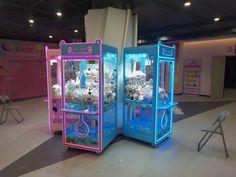 Arcade Game Machines, Arcade Games, Game Room Chairs, Claw Machine, Cat Cafe, Shop Ideas, Crane, Business, Fun