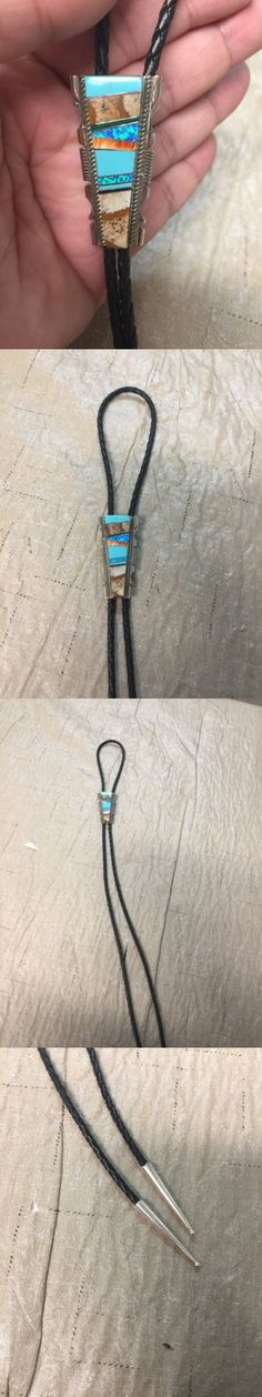 Bolo Ties 10292: Native American Indian Navajo Bolo Tie Turquoise Multistone Inlay Ties Since #5 -> BUY IT NOW ONLY: $89.97 on eBay!
