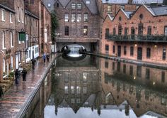 Gas Street Basin, Birmingham, Looking towards Broad Street Canal Barge, Canal Boat, Birmingham Canal, British Holidays, British Travel, Kingdom Of Great Britain, Urban Sketching, British Isles, Basin