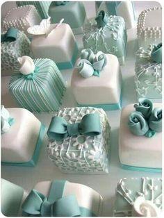 Tiffany Mini Cake...so pretty. :)