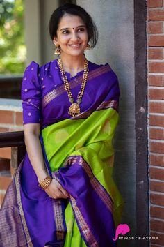 Blouse Designs High Neck, Silk Saree Blouse Designs, Fancy Blouse Designs, Silk Sarees, Stylish Blouse Design, Saree Trends, Designer Blouse Patterns, Blouse Models, Stylish Sarees