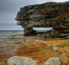 Limestone caves in Door County. We need to get back to Door County again soon.