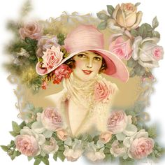 The Winter Rose – Writers and Roses Vintage Pictures, Vintage Images, Pretty Pictures, Decoupage Vintage, Decoupage Paper, Vintage Cards, Vintage Postcards, Retro, Etiquette Vintage