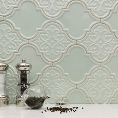 Byzantine Florid Arabesque Alice Ceramic Tile - Arabesque Tile - Shop By Tile Shape and Pattern