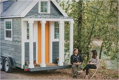 Heirloom's Mini Mobile Cabin is a Hipster's Dream Home #camper trendhunter.com