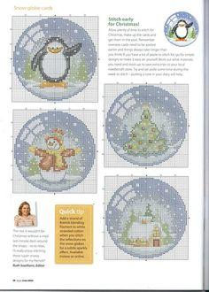 Christmas Cuties 2 of 2 Cross Stitch Christmas Ornaments, Xmas Cross Stitch, Cross Stitch Needles, Christmas Embroidery, Christmas Cross, Cross Stitch Charts, Cross Stitch Designs, Cross Stitching, Cross Stitch Embroidery