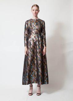 Oscar de la Renta | 70's Iridescent Tunic Dress | RESEE