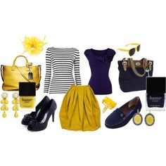 I absolutely love the color yellow and this polyvore selection is fantastic