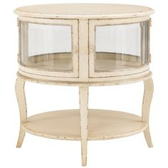At Home in Belle Maison Elegant Table with Glass Doors by Drexel Heritage® - Baer's Furniture - End Table Miami, Ft. Lauderdale, Orlando, Sarasota, Naples, Ft. Myers, Florida