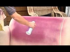 Non-toxic, non-flammable Upholstery Paint for Fabric restores color to faded or stained absorbent fabrics. Use for furniture, auto interiors, RVs and boats, carpets, and even cubicles! One idea was buy remnant carpet (low pile) and tape off stripes and make your own area rug for so much cheaper!!!!!