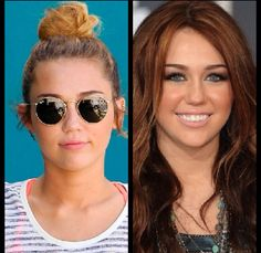 Miley Cyrus hair up or hair down