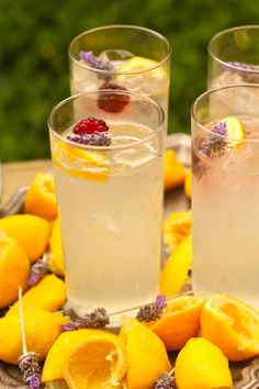 Lavender lemonade Lemonade makes about 8 cups 2 cups water 1 cup Wholesome Sweetener's ZERO or 1 cup plain sugar cup agave 2 tbs dried lavender 2 cups freshly squeezed juice# 4 cups water ice. Refreshing Drinks, Summer Drinks, Fun Drinks, Healthy Drinks, Beverages, Juice Drinks, Non Alcoholic Drinks, Cocktail Drinks, Cocktail Recipes
