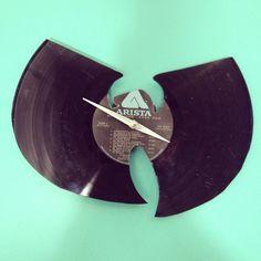 Wu Tang Clan vinyl record wall clock by Foxsvinylclocks on Etsy, $30.00