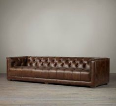 Restoration Hardware 7' Savoy Leather Sofa