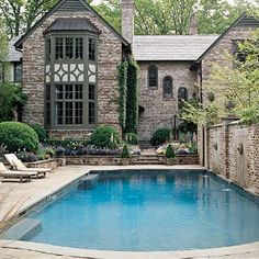 pool with wall fountain could be placed downhill from house