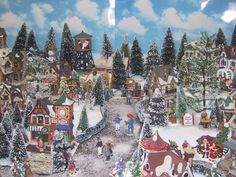 Long before Youtube videos were popular, I had uploaded this video of my 2005 Display, my 3rd year of involvement in the hobby of Christmas Villages.  In hind-sight, there were many things that could have been done differently, probably better by today's standards.