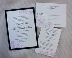 Invitations. They just need some burgundy on them somewhere! Possibly the border?